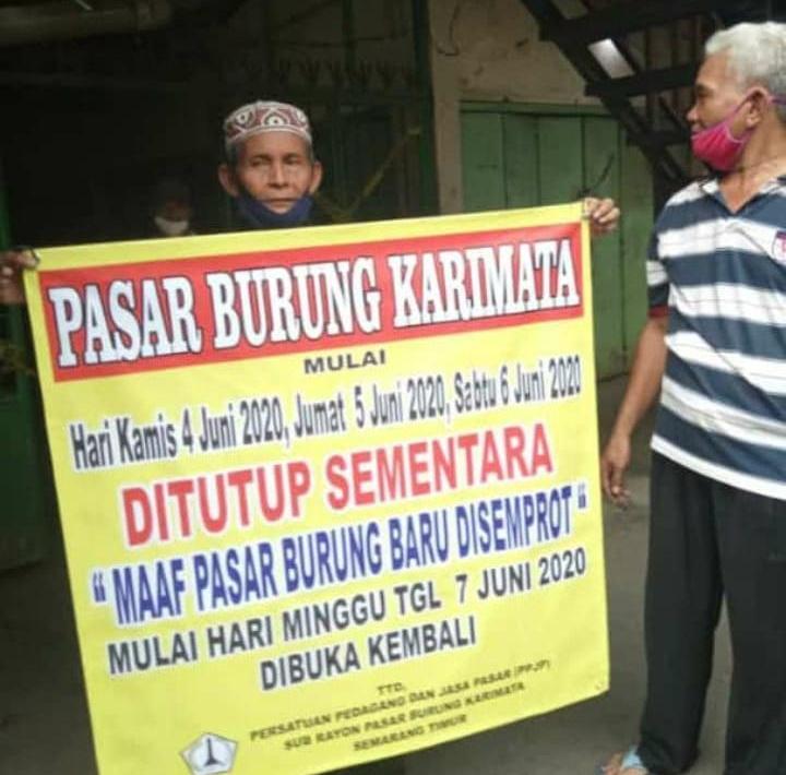 Tidak Ada Pedagang Di Pasar Burung Karimata Semarang Yang Terpapar Covid-19