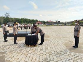 Kapolres Rohul Pimpin Sertijab Kabag Ops, Dijabat Kompol Jhon Firdaus, Amk.