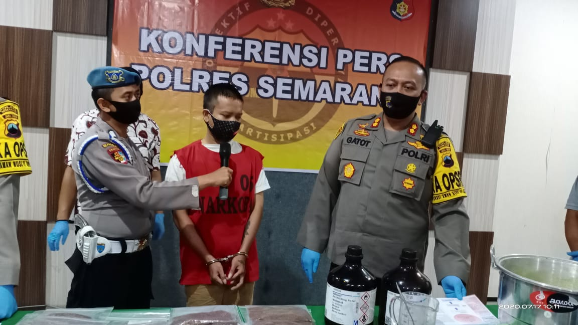Satresnarkoba Polres Semarang Bekuk Jaringan Home Industri Tembakau Gorila