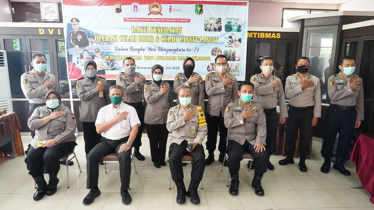 Polda Jateng mengadakan Bakti Kesehatan Oprasi Bibir Sumbing