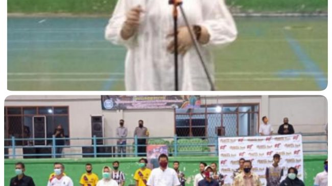 Pembukaan Open Tournamen Futsal Karang Taruna Kecamatan Taman Sari Kota Pangkalpinang