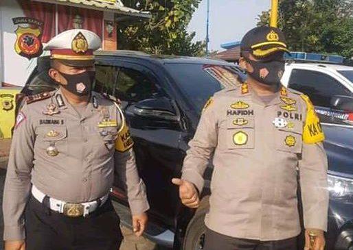 Kapolres Indramayu, Cek Pos Pengamanan Libur Panjang